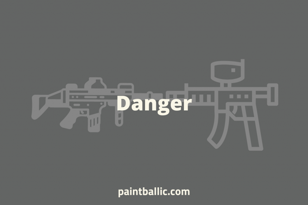 is airsoft or paintball more dangerous