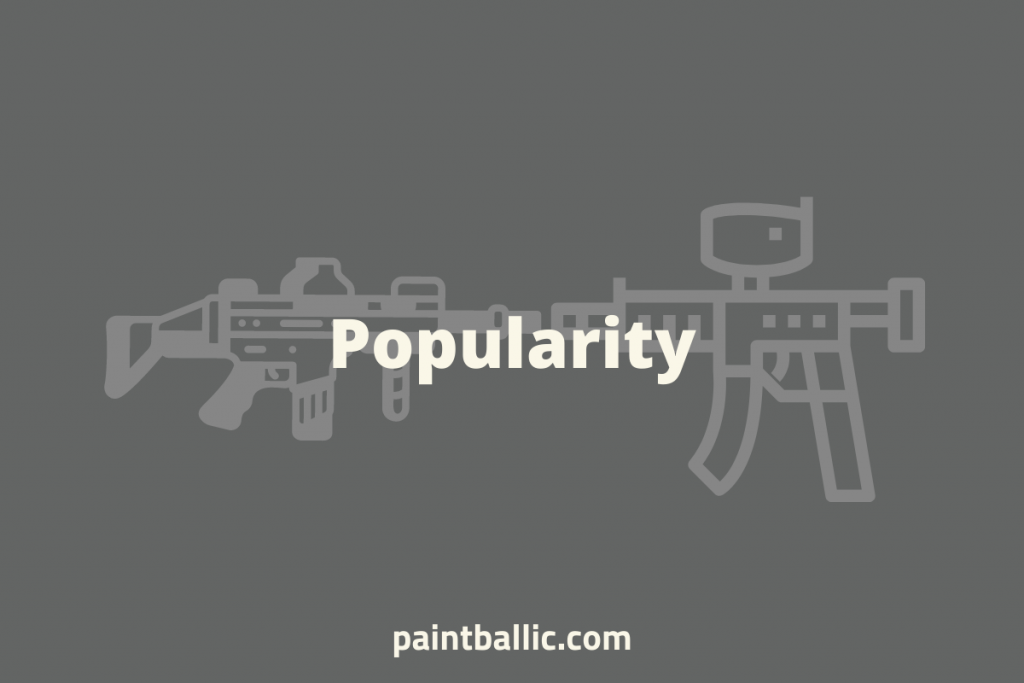 is airsoft or paintball more popular