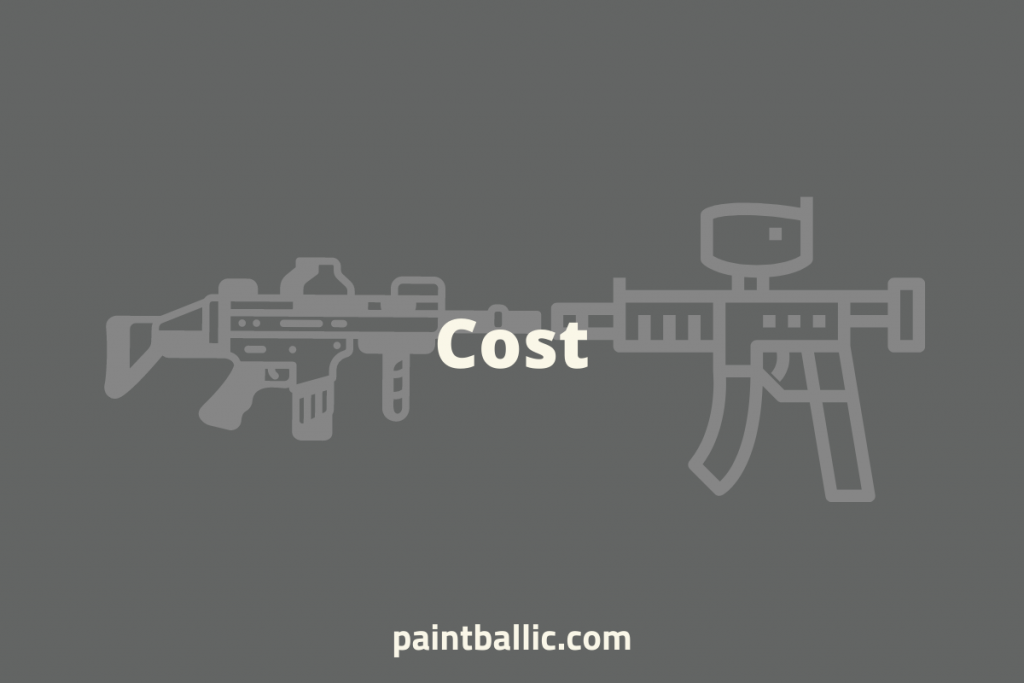 paintball vs airsoft cost