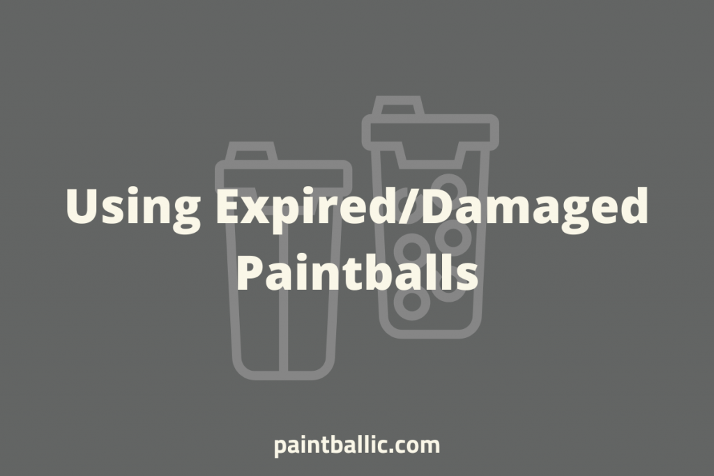 can i use old paintballs